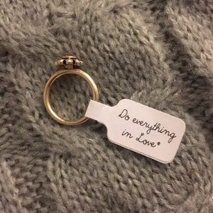 Cute ring Do Everything in Love mustard